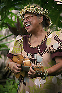 A performer sings at the Old Lahaina's Luau.