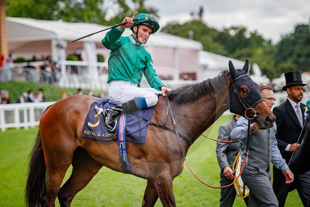 Aljazzi  (William Buick) wins The Duke of Cambridge Stakes Gr.2 at Royal Ascot, 20/06/2018, photo: Zuzanna Lupa