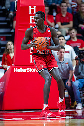 NORMAL, IL - February 22: Abdou Ndiaye during a college basketball game between the ISU Redbirds and the Drake Bulldogs on February 22 2020 at Redbird Arena in Normal, IL. (Photo by Alan Look)