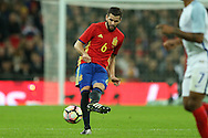 Nacho of Spain in action. England v Spain, Football international friendly at Wembley Stadium in London on Tuesday 15th November 2016.<br /> pic by John Patrick Fletcher, Andrew Orchard sports photography.