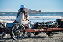 Jessi Combs at the start in her Ford Racer at the Race of Gentlemen. Wildwood, NJ, USA. October 11, 2015.  Photography ©2015 Michael Lichter.
