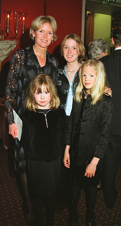 Left to right, MRS JOHN ANSTRUTHER-GOUGH-CALTHORPE and her children MISS OCTAVIA ANSTRUTHER-GOUGH-CALTHORPE, MISS ARABELLA LLEWELLYN and MISS GABRIELLA ANSTRUTHER-GOUGH-CALTHORPE, at a fashion show in London on 12th April 1999.MPY 49