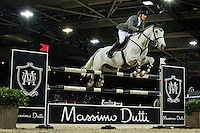 Henrik von Eckermann on Solitaer 41 competes during Massimo Dutti Trophy  at the Longines Masters of Hong Kong on 21 February 2016 at the Asia World Expo in Hong Kong, China. Photo by Juan Manuel Serrano / Power Sport Images