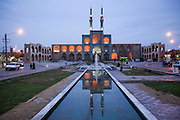 Amir Chakhaq Complex. Old city at dusk, Yazd, Iran.