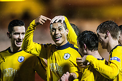 Falkirk's Lyle Taylor celebrates after scoring their third goal with a header..Airdrie United 1 v 4 Falkirk, 22/12/2012..©Michael Schofield.