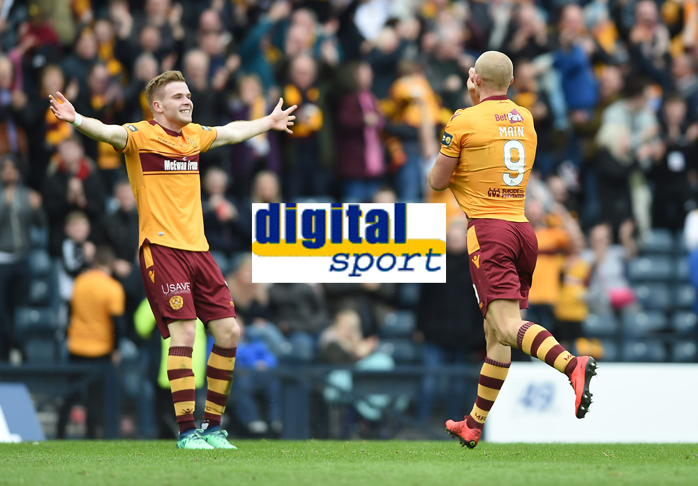 Football - 2017 / 2018 William Hill Scottish Cup (SFA) - Semi-Final: Motherwell vs. Aberdeen<br /> <br /> Curtis Main celebrates in the match between Motherwell v Aberdeen at Hampden Park.<br /> <br /> COLORSPORT