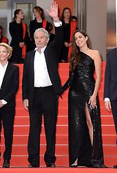 Alain Delon (left) and Anouchka Delon attending A Hidden Life Premiere, during the 72nd Cannes Film Festival. Photo credit should read: Doug Peters/EMPICS