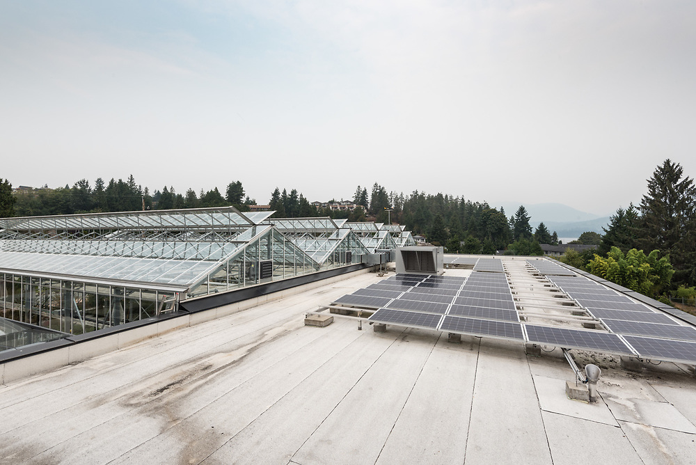 Solar powered waste water treatment plant in Sechelt, British Columbia photographed by Brett Gilmour Photography.