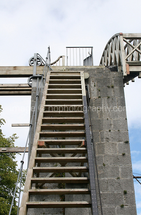 """Ladder up to the Great 72"""" Telescope built by Lord Rosse in the 1840's at Birr Castle County Offaly Ireland"""