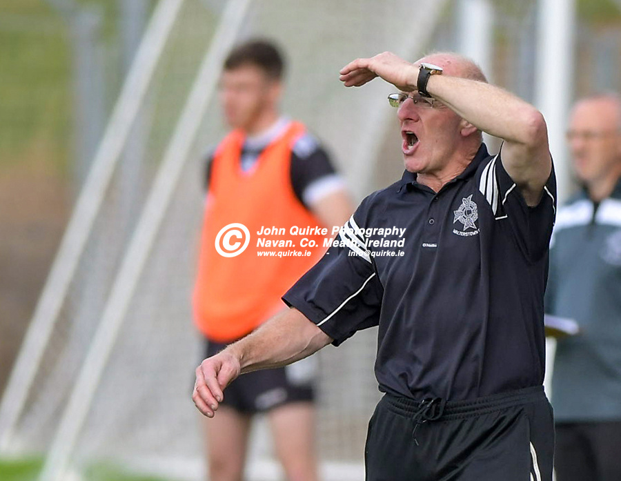 Walterstown manager, Martin O'Connell    in the Castletown v Walterstown, 2020 Corn na Boinne Final match, at Pairc Tailteann, Navan.<br /> <br /> Photo: GERRY SHANAHAN-WWW.QUIRKE.IE<br /> <br /> 02-08-2021