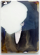 glass plate with broken emulsion