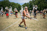 Shadow Drum and Bugle Corps practice in Michigan City, Indiana on August 9, 2016. <br /> <br /> Beth Skogen Photography - www.bethskogen.com