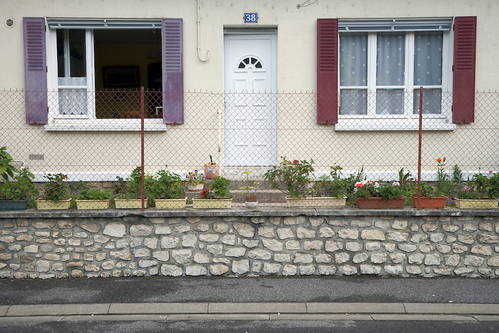 street side of a domestic house in rural France
