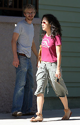 """©2006 RAMEY PHOTO 310-828-3445<br /> <br /> EXCLUSIVE<br /> <br /> Sandra OH is weekly on """"Grey's Anatomy"""" as Cristina Yang, a young medical intern learning the ropes at Seattle Grace Hospital. Sandra has also received an Emmy nomination for Best Supporting Actress in a drama series for her portrayal of Cristina.<br /> <br /> In 2003, she married writer-director Alexander Payne and their first film together was the Oscar-winning Sideways (2004) but they just filed for divorce few months ago.<br /> <br /> She found love again and everything go quickly with  Andrew Featherston 28 (7 year younger)<br /> During this labor day week end she meet the Featherston, Shawn and Joy who came from Minneapolis to meet Sandra.<br /> She seemed very happy and in love with Andrew<br /> They bought art painting stuff at """"Blick art material"""" before visiting the LACMA Museum.<br /> <br /> SV/VL/AAAP (Mega Agency TagID: MEGAR137709_3.jpg) [Photo via Mega Agency]"""