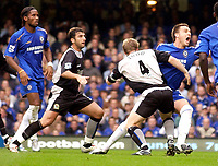 Photo: Daniel Hambury.<br />Chelsea v Blackburn Rovers. The Barclays Premiership.<br />29/10/2005.<br />Chelsea's John Terry is fouled by  Blackburn's Andy Todd for a penalty.