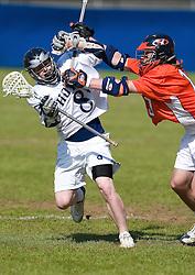 3/20/04  2:32:28 PM..Georgetown Hoya Brice Queener (8)..Georgetown Lacrosse v. Hobart.Harbin Field - Georgetown University