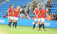 Fotball , 2. juni 2016 Euro-qual. kvinner<br /> Norge - Østerrike<br />  European Womens qual.<br /> Norway - Austria<br /> Maren Mjelde 6 , Lene Mykjåland 17 , Nora Berge 11 ,<br /> Kristine Minde , Norge