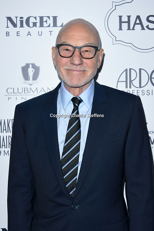 SIR PATRICK STEWART at the 7th Annual Make-Up Artists and Hair Stylist Guild Awards at The Novo at L. A. Live in Los Angeles, California