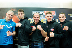 Denis Lazar, Jan Sekol, Dejan Zavec, Tomi Lorencic and Aljaz Venko during press conference of Boxing Gala events organised by Dejan Zavec, on February 21, 2017 in Hotel Union, Ljubljana, Slovenia. Photo by Vid Ponikvar / Sportida