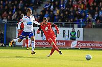Fotball , 15. sep 2018 , Eliteserien,<br />Haugesund - Brann Bergen<br />Gilli Sørensen fra Brann Bergen skåring andre mål mot Haugesund.<br />Foto: Andrew Halseid Budd , Digitalsport