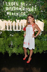 LILY HODGES at the opening of L'Eden by Perrier-Jouet held at The Unit, 147 Wardour Street, Soho, London on 15th September 2016.
