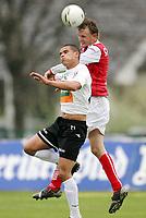 Fotball , mai 2007 , Adeccoligaen , Hønefoss - Bryne 1-4<br /> Kamal Saliti , Hønefoss og Ronny Espedal , Bryne