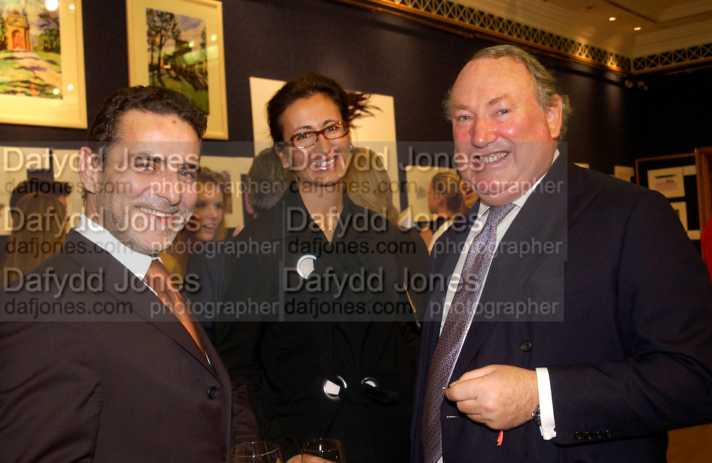 The new CEO of De Beers, Guy Leymarie and De Beers Sales Director: Sylvie Freuncd-Pickavance with Anthony oppenheimer,  Hip Art, in aid of Stowe House Preservation Trust and friends of War Memorials. Christie's. 16 March 2004. ONE TIME USE ONLY - DO NOT ARCHIVE  © Copyright Photograph by Dafydd Jones 66 Stockwell Park Rd. London SW9 0DA Tel 020 7733 0108 www.dafjones.com