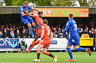 AFC Wimbledon Forward James Hanson (18) during the EFL Sky Bet League 1 match between AFC Wimbledon and Wycombe Wanderers at the Cherry Red Records Stadium, Kingston, England on 27 April 2019.