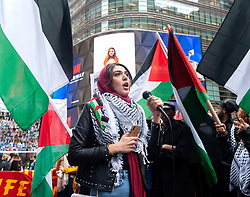 March 30, 2019 - New York, New York, U.S. - Activists gathered in Times Square in New York City to commemorate the first year anniversary of the 'Great March of Return' demonstrations in Gaza. (Credit Image: © Gabriele Holtermann Gorden/Pacific Press via ZUMA Wire)