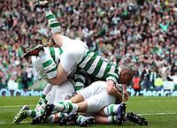 Football - Scottish Premier League - Celtic vs. Rangers<br /> <br /> Celtic players celebrate Kris Commons scoring during the Celtic vs. Rangers Scottish Premier League match at Celtic Park, Glasgow on April 29th 2012<br /> <br /> <br /> Ian MacNicol/Colorsport
