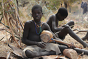 Africa, Tanzania, members of the Datoga tribe playing music