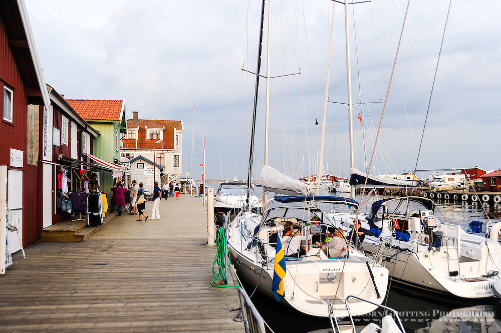 "Sweden. Smögen, one of the liveliest ""summer towns"" of the Swedish West Coast."