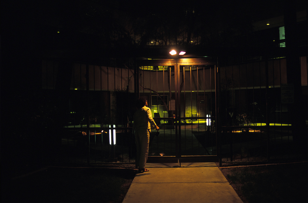 Germaine Abraham-LeVeen returns to the office late one night to find the gate locked.