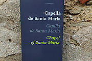 Chapel de Santa Maria Castle of Xàtiva or Jativa, Valencia province, Spain - Catalan, Spanish and English languages