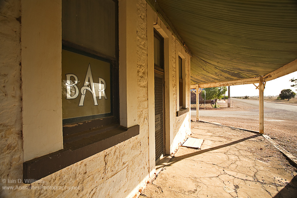 Hotel and bar in Hammond Ghost Town, Flinders Ranges South Australia