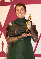 The 91st Annual Academy Awards Press Room at The Dolby Theatre in Hollywood, California on 2/24/19. 24 Feb 2019 Pictured: Olivia Colman. Photo credit: River / MEGA TheMegaAgency.com +1 888 505 6342