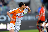 FOOTBALL - FRENCH CHAMPIONSHIP 2010/2011 - L1 - STADE RENNAIS v FC LORIENT - 16/04/2011 - PHOTO PASCAL ALLEE / DPPI - JOY FRANCIS COQUELIN (LOR) AFTER HIS GOAL