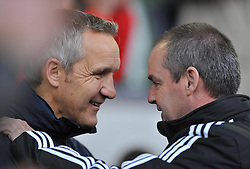 Crystal Palace care taker manger keith Millen talks withWest Bromwich Albion Manager, Steve Clarke Photo mandatory by-line: Alex James/JMP - Tel: Mobile: 07966 386802 02/11/2013 - SPORT - FOOTBALL - The Hawthorns - West Bromwich - West Bromwich Albion v Crystal Palace - Barclays Premier LeagueCrystal Palace care taker manger keith millen