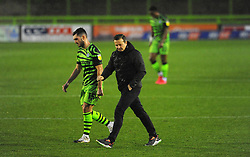 Forest Green Rovers manager Mark Cooper cuts a dejected figure at half-time - Mandatory by-line: Nizaam Jones/JMP - 14/11/2020 - FOOTBALL - innocent New Lawn Stadium - Nailsworth, England - Forest Green Rovers v Mansfield Town - Sky Bet League Two