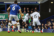 Leroy Fer of Swansea City (c)  looks to shoot. Premier league match, Everton v Swansea city at Goodison Park in Liverpool, Merseyside on Saturday 19th November 2016.<br /> pic by Chris Stading, Andrew Orchard sports photography.