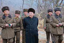Undated photo from North Korean News Agency shows North Korean leader Kim Jong-un visiting a Korean People's Army unit, in an undisclosed location, North Korea. Photo released January 2017. Photo by Balkis Press/ABACAPRESS.COM