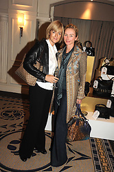 Left to right, JANE MOORE and JO MANOUKIAN at the In Style Handbag Auction is association with Revlon raising money for the Rainbow Trust children's charity held at the Berkeley Hotel, Knightsbridge, London on 4th November 2008.