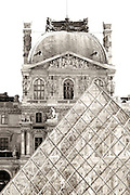 Classic architecture photograph of The Louvre