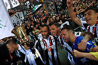 Celebrazione Coppa Juventus vince il trofeo, Celebration Cup Juventus Wins the trophy Medhi Benatia Juventus<br /> Roma 09-05-2018  Stadio Olimpico  <br /> Football Calcio Finale Coppa Italia / Italy's Cup Final 2017/2018 <br /> Juventus - Milan<br /> Foto Cesare Purini / Insidefoto