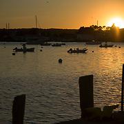 Gloucester harbor sunset