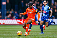 Luton Town midfielder Pelly-Ruddock Mpanzu on the ball during the EFL Sky Bet League 1 match between Luton Town and Wycombe Wanderers at Kenilworth Road, Luton, England on 9 February 2019.
