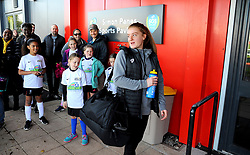 Sophie Baggaley of Bristol City arrives at the Stoke Gifford Stadium prior to kick-off - Mandatory by-line: Nizaam Jones/JMP - 27/10/2019 - FOOTBALL - Stoke Gifford Stadium - Bristol, England - Bristol City Women v Tottenham Hotspur Women - Barclays FA Women's Super League