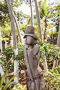 Sculpture from a coconut palm in Nassau , Bahamas.