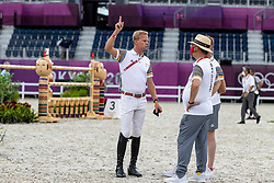 Guery Jerome, BEL, Weinberg Peter, GER, Bruynseels Niels, BEL<br /> Olympic Games Tokyo 2021<br /> © Hippo Foto - Dirk Caremans<br /> 07/08/2021