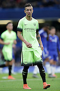 Bersant Celina of Manchester City looks on. The Emirates FA Cup, 5th round match, Chelsea v Manchester city at Stamford Bridge in London on Sunday 21st Feb 2016.<br /> pic by John Patrick Fletcher, Andrew Orchard sports photography.